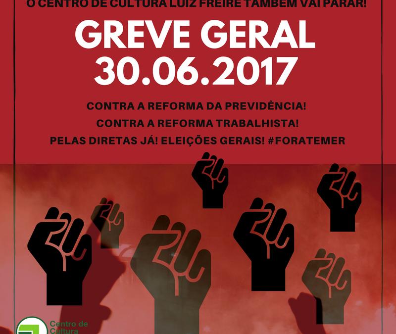 CCLF adere à Greve Geral e paralisa suas atividades nesta sexta (30)