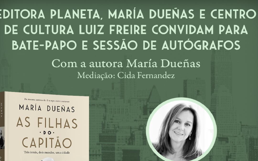Olinda recebe Maria Dueñas para lançamento de novo romance