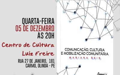 Jornalista olindense Mariana Reis lança livro no Centro de Cultura Luiz Freire