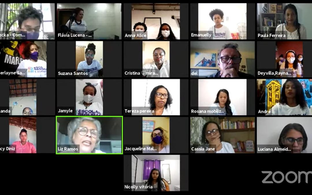 Jovens e instituições trocam saberes sobre Escolas Seguras e Acolhedoras em encontro virtual